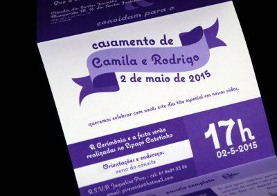 Convite de Casamento Rodrigo e Camila