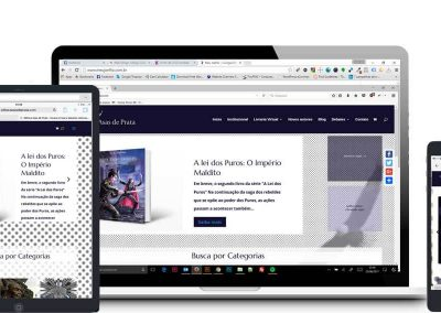 Criação de site para Editora