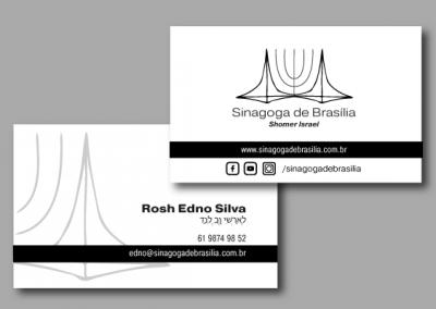 Criação de Cartão de Visitas para Sinagoga