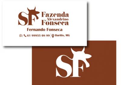 cartao de visitas fazenda sf