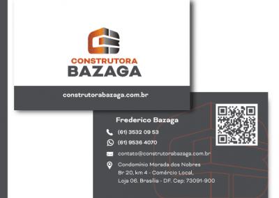 cartão de visitas construtora bazaga