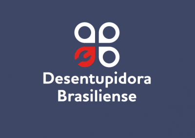 logotipo versão negativa construtora bazaga