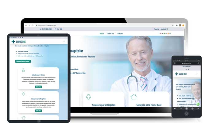 Criação de Site de tecnologia em Saúde