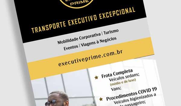 Criação de Filipetas Promocionais para Motorista Executivo